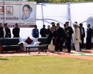 <h5>Hon&#039;ble President Pratibha Patil arrives at Kurukshetra to hoist India&#039;s largest Tiranga, February 2012</h5>