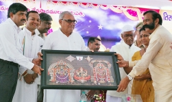 <h5> Foundation Stone laying ceremony of Tirupati Balaji Temple in Kurukshetra near Braham Sarovar</h5>
