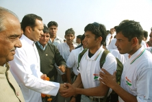 <h5>Naveen Jindal at a sports event</h5>