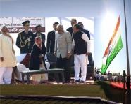 <h5>Hon'ble President Pratibha Patil with Haryana Chief Minister Shri Bhupinder Singh Hooda</h5>