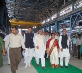 <h5>Hon'ble Chief Minister of Haryana Sri Bhupinder Singh Hooda with Naveen Jindal</h5>